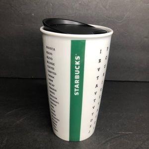 Starbucks '16 Crossword Ceramic 12oz Travel Mug